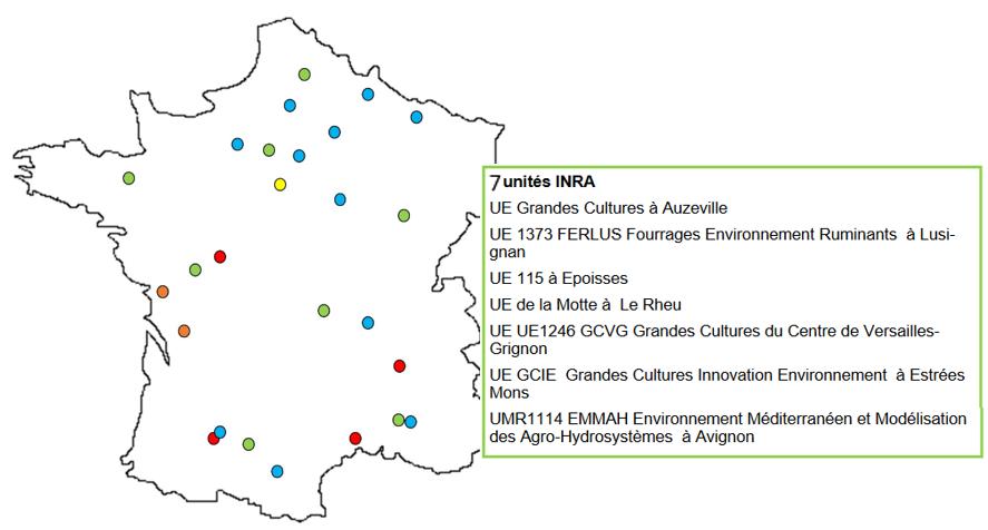 Localisation des sites du réseau Quasaprove